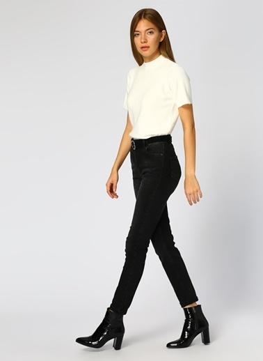 Limon Company Limon Kadın Boru Paça Siyah Denim Pantolon Siyah
